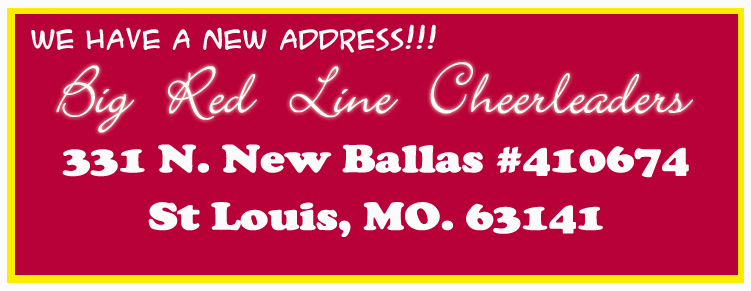 St Louis NFL Cheerleaders - Big Red Line